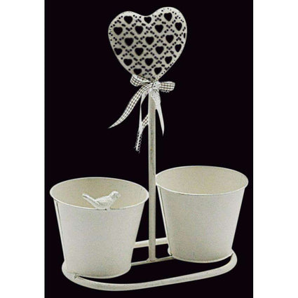 Heart Design Double Planter