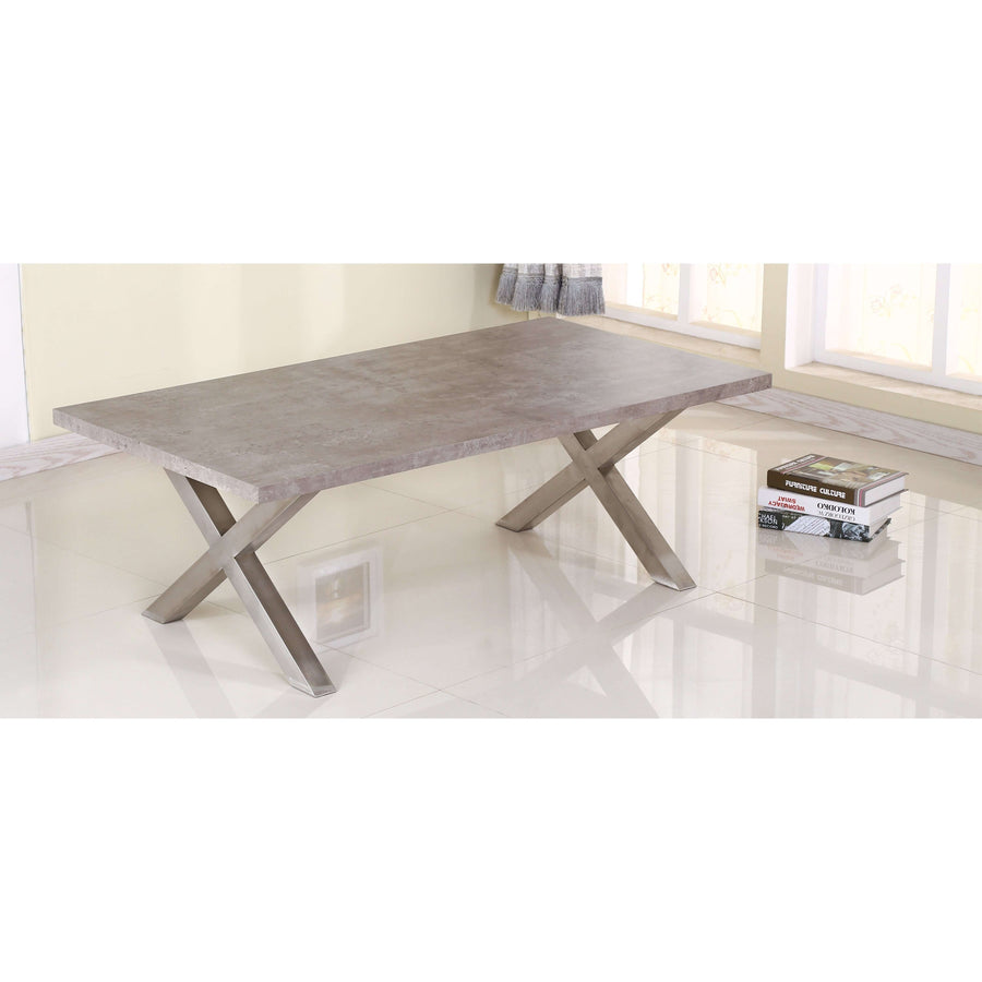 Helix Coffee Table Stone & Brushed Stainless Steel