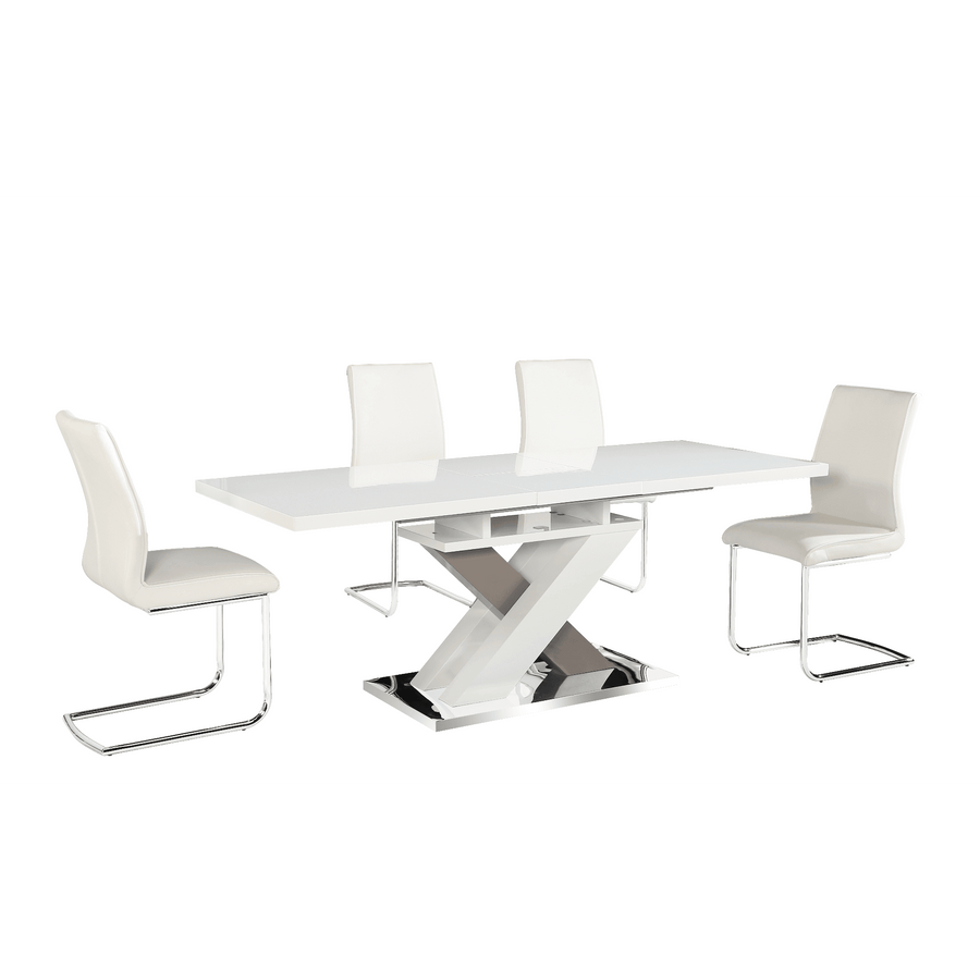 Honora Extending High Gloss Dining Set With 6 Chairs