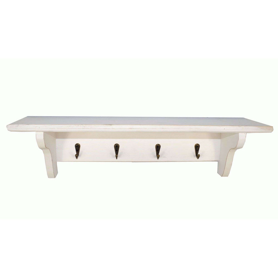 Keys Hanging Rack With Shelf WHITE 50 x 12 x 13cm