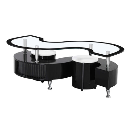 Krista Black High Gloss Coffee Table with Black Border
