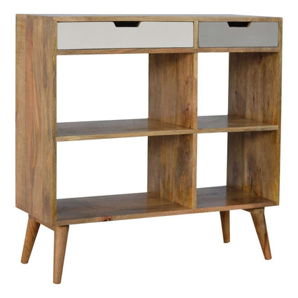 Low Bookcase with 2 Drawers