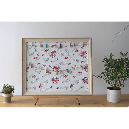 Lrg DIY Peg Photo Frames (50x60cm) - Floral