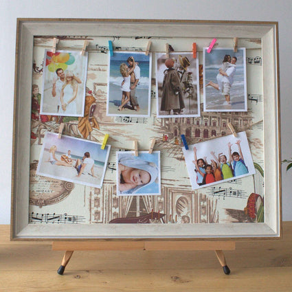 Lrg DIY Peg Photo Frames (50x60cm) - Mozart