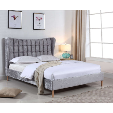 Mahala Crushed Velvet Double Bed