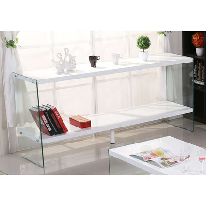 Marco White High Gloss & Glass Sideboard
