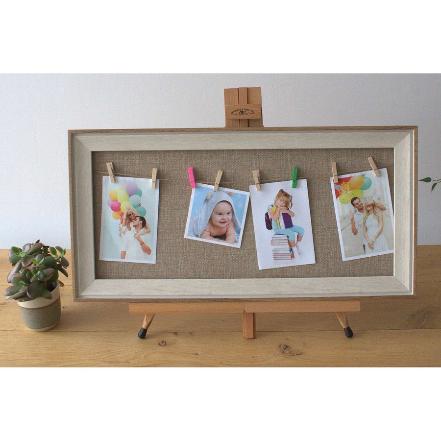 Med DIY Peg Photo Frames (30x60cm)- Natural Jute