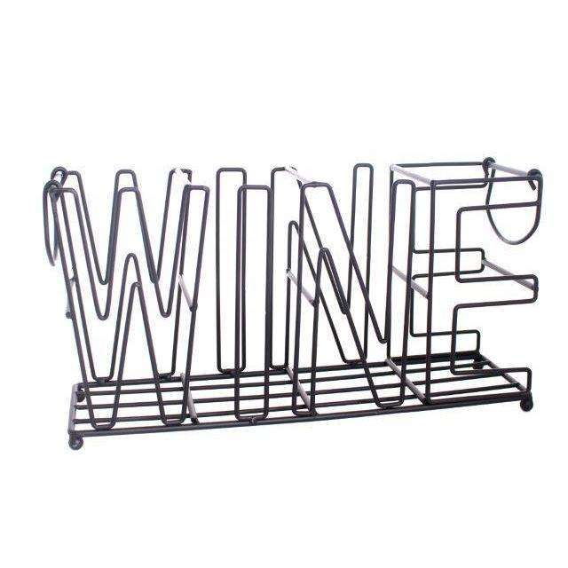 Metal 4 Bottle Wine Holder 37cm