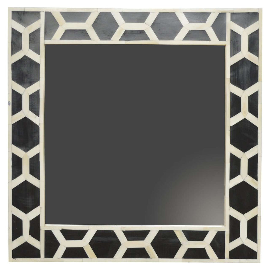 Mirror Frame with Mother of Pearl Inlay Patern