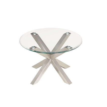 Nelson Coffee Table with Brushed Stainless Steel