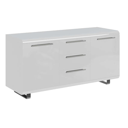 Newline High Gloss Sideboard Large 2 Doors & 3 Drawers