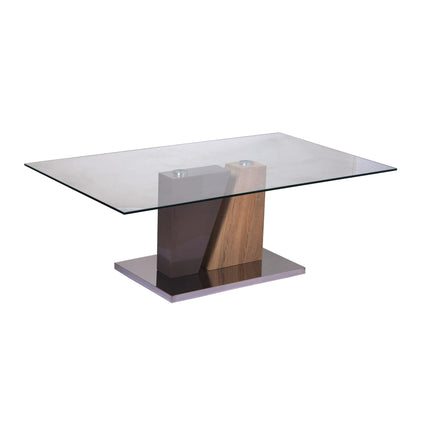 Olivia Glass Coffee Table Champagne & Natural