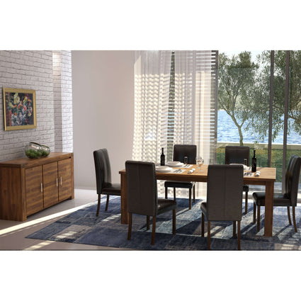 Parkfield Solid Acacia Dining Table with 6 Chairs