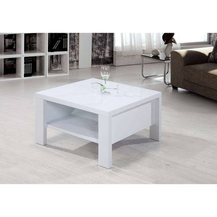 Peru Square Coffee Table High Gloss White