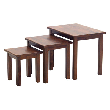 Portman Solid Rubberwood Nest of Tables Dirty Oak