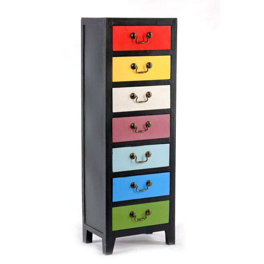 Rainbow Tall Cabinet with 7 Drawers