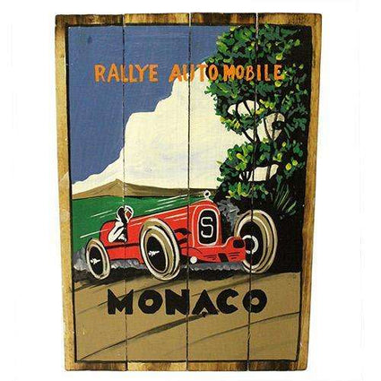 Rough Wooden Signs - Monaco