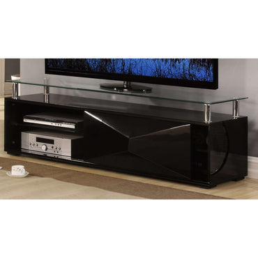 Rowley Black High Gloss TV Cabinet