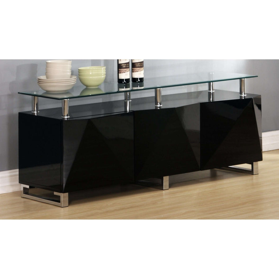 Rowley High Gloss Sideboard 3 Doors
