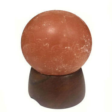 Salt Lamp Ball with Wood Base appx 1.5 - 1.8kg