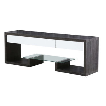 Samba TV Unit Black & White High Gloss