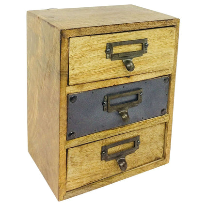 Solid Wood Cabinet With 3 Drawers 24cm