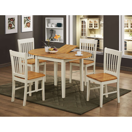 Stacey White Extending Dining Set with 4 Chairs