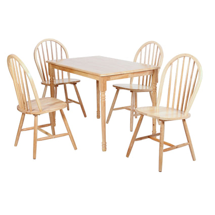 Sutton Dining Set Natural with 4 Chairs