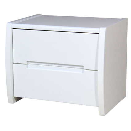 Tanya High Gloss Bedside White