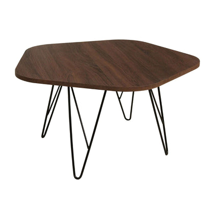Tigris Coffee Table Walnut with Black Metal Legs