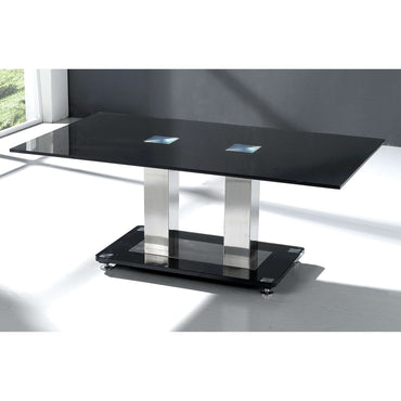 Trinity Coffee Table Chrome & Black