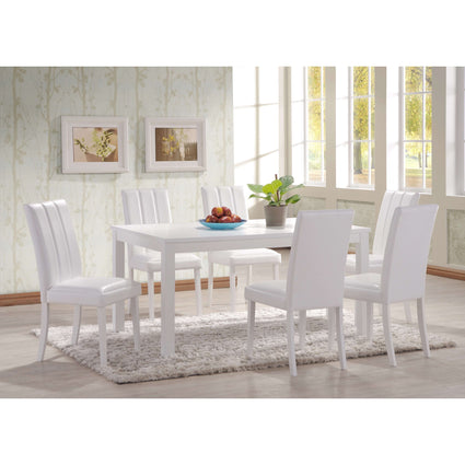 Trogon Dining Set White with 6 Chairs