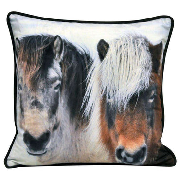 Two Winter Pony Cushion 45cm