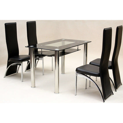 Vegas Small Dining Set with 4 Durban Chairs