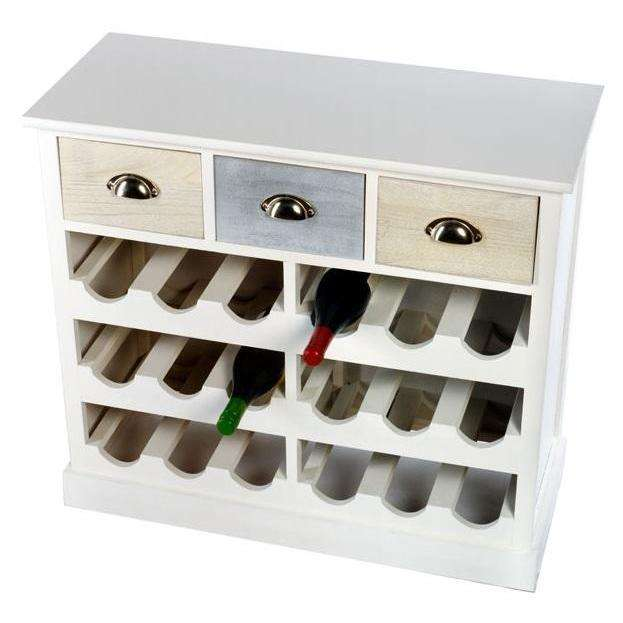 Wine Cabinet with 3 Drawers 80.5 x 34.5 x 72.5 cm