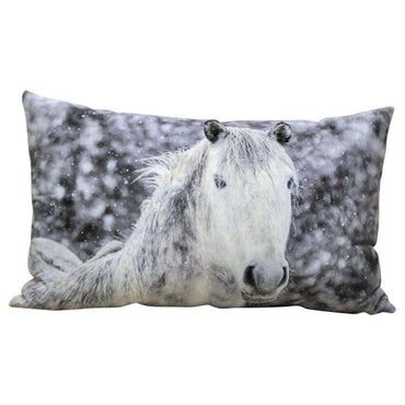 Winter Pony Cushion 50 x 30cm