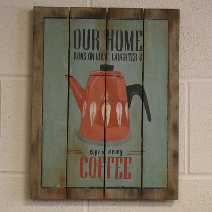 Wooden Coffee Sign - Our Home