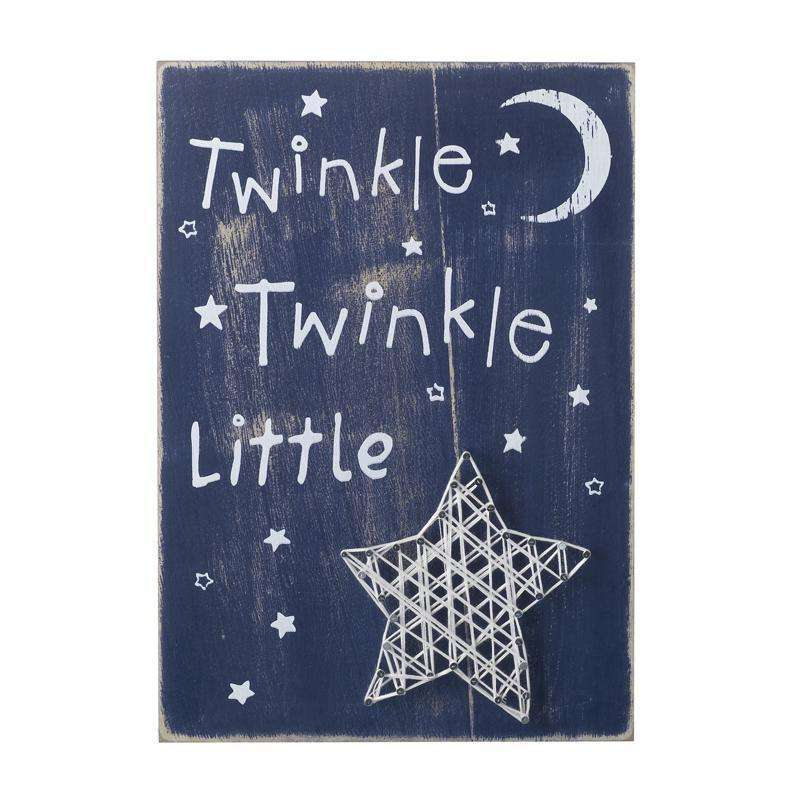 Wooden Twinkle Wall Sign 30cm