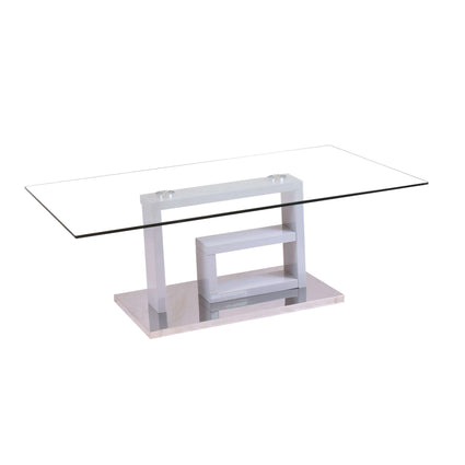 Yale Glass Coffee Table High Gloss Grey