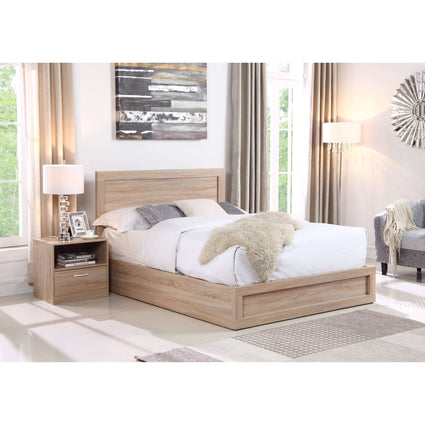 Yewtree Storage King Size Bed Oak