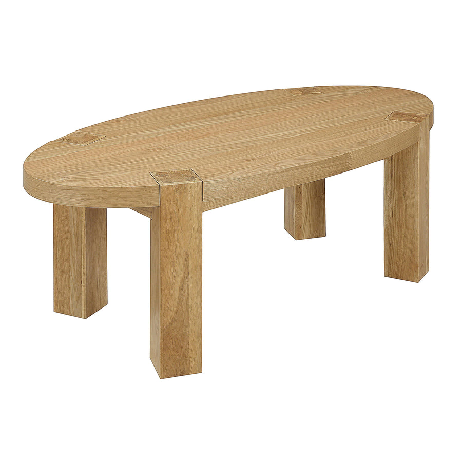 Zeus Oval Coffee Table Oak
