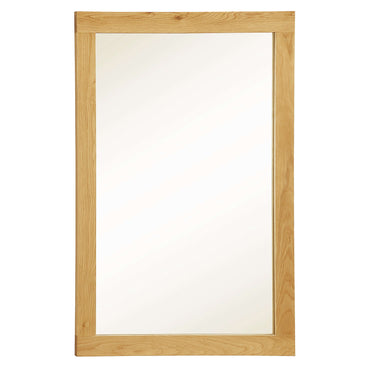 Zeus Rectangle Mirror Oak