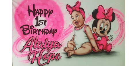 Airbrushed Banner 1st Birthday