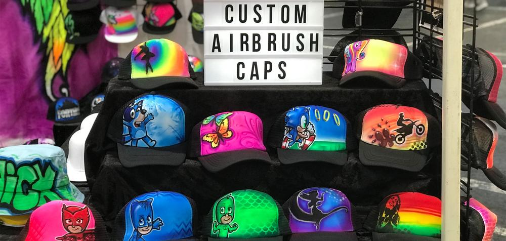 custom airbrush caps