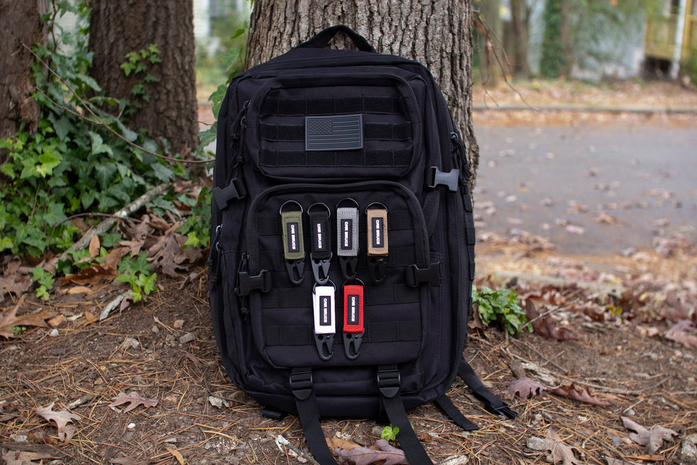 45L Tactical Backpack + 6 Pack Tactical Key Straps