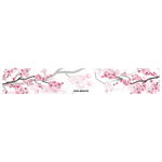 "Cherry Blossoms ""White Edition"" Printed Banner 56""x9"""