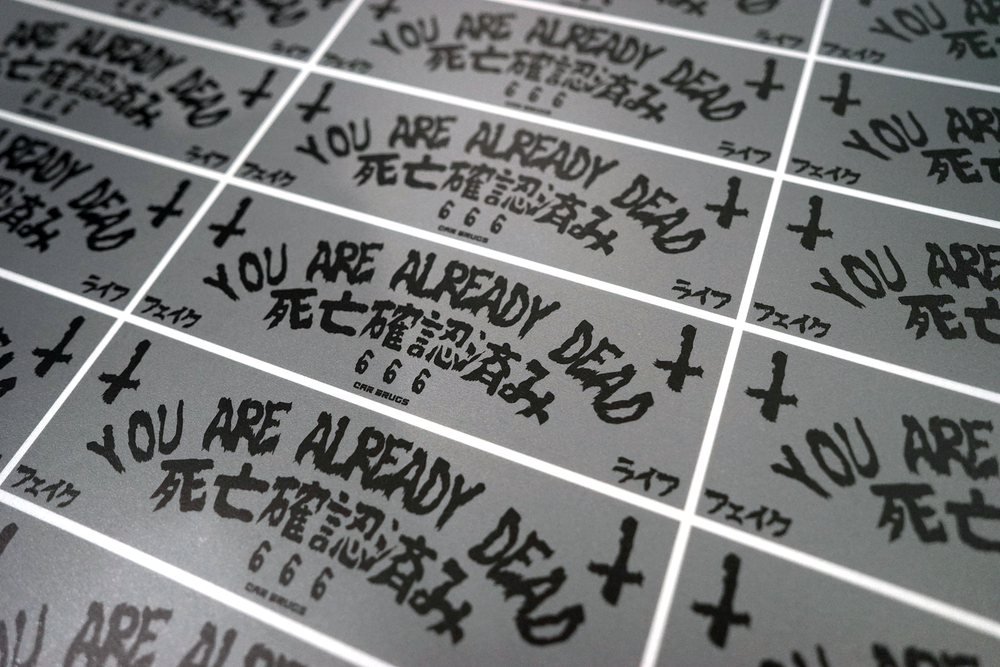 "Matte Reflective - You Are Already Dead ""Grey"""