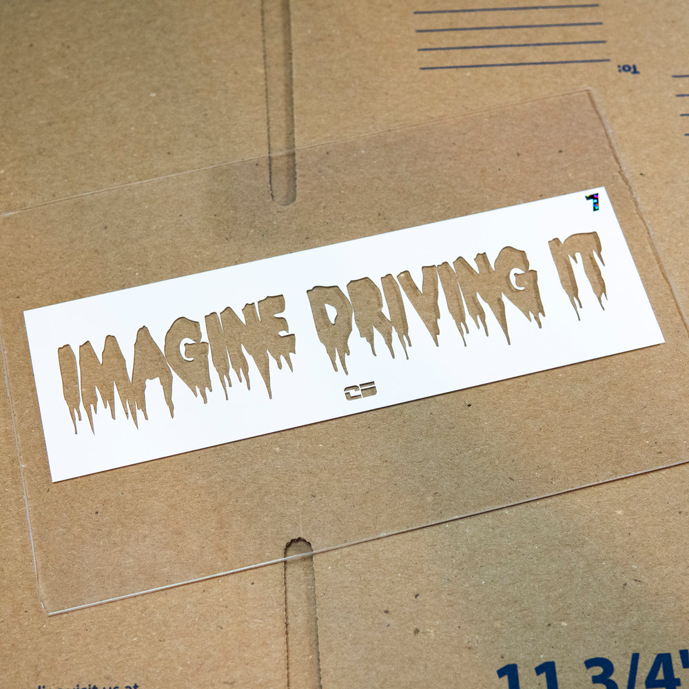 Imagine Driving It -Numbered- White Die Cut