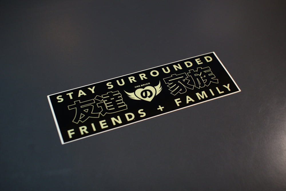 Stay Surrounded / Friends Family - Heart Wings