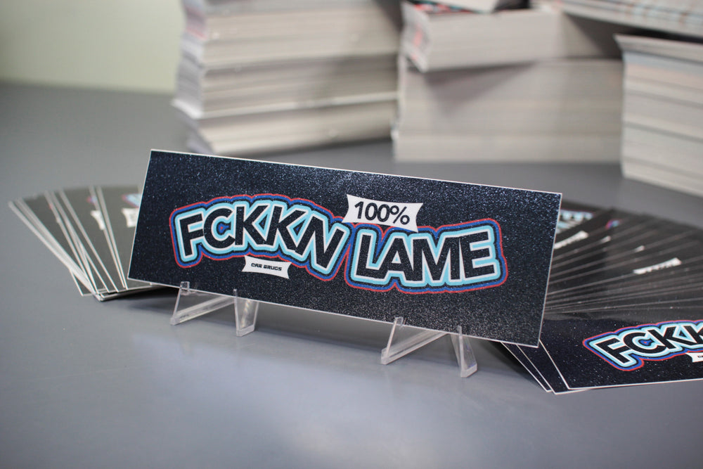 Crystal Finish - FCKKN LAME - Black